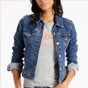 Levi's Blue Jean Trucker Denim Stretch Jacket
